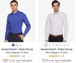 Amazon Brand - Arthur Harvey Shirt Upto 87% Off