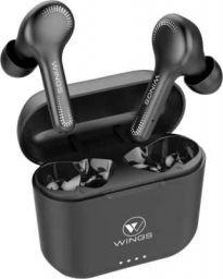 Wings Vibe Bluetooth Headset (Black True Wireless)