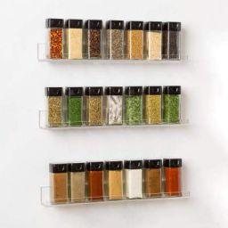 STAR WORK - 120 ml Clear Glass Square Spice Jar (10)