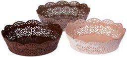 Nayasa Lacy 3 Piece Oval Plastic Fruit Basket Set
