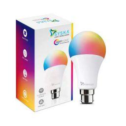 SYSKA Wi-Fi Enabled Smart LED Bulb B22 9-Watt (16 Million Colors) (Compatible with Amazon Alexa and Google Assistant)