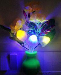 Shoppingdoor Night Lamp Automatic Sensor, Multicolour, Mushroom