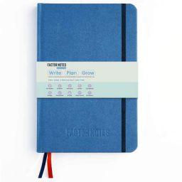 Factor Notes Life Planner: 12 Months Undated/Productivity Stickers/Habit Tracker/Hardbound (Blue)