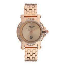 Carlton london Analog Rose Gold Dial Women's Watch-CL009RROR