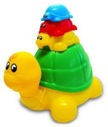 Funskool Ride 'n Hide Turtle, Multi Color