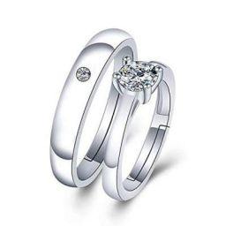 Jewels Galaxy Wonderful AD Silver Plated Fabulus Ring for Women/Girls (JG-RNBX-9931)