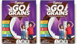 Manna Go Grains Multigrain Chocolate Drink (2 x 100 g)