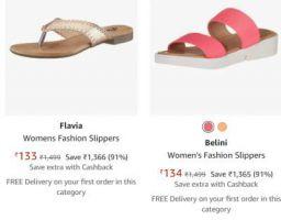 Flavia Womens Fashion Slippers Upto 91% Off