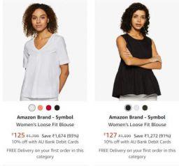 Amazon Brand - Symbol Clothing Upto 93% Off
