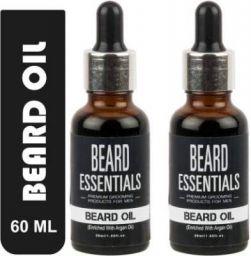 Beard Essentials Beard Oil For Faster Beard Growth and Hair Growth - Pack Of 2 Hair Oil  (60 ml)