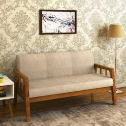 @home by Nilkamal Burke Three Seater Sofa (Coffee)