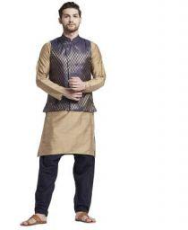 Shatranj By Fbb Men Kurta, Ethnic Jacket and Pyjama Set