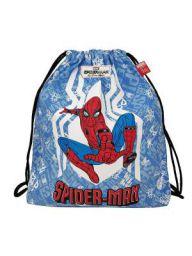EcoRight Marvel Canvas Drawstring Bag printed Spiderman for Kids,Men, Women, Unisex - 8 ltrs | Blue