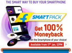 Flipkart Smart pack: Get 100% Moneyback of your Smartphone after 12-18 month