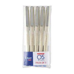 Pilot O5 Roller Ball Pen Pack of 5 ( 4 Blue , 1 Black)