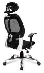 Savya Home® APEX Chairs™ Apollo Chrome Base HIGH Back Engineered Plastic Frame Office Chair (Apollo)
