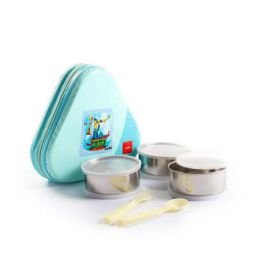 Cello Eat-N-Eat 3 Container Lunch Packs, Green