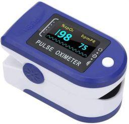 Homesoul Finger Tip Pulse Oximeter Oxygard Digital LED Heart Rate Monitor Oximeter (Blue)
