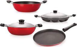 Nirlon Non-Stick Kitchenware Kitchen Cooking Essential Combo Set, (KD12_DKDB_APPAM_FT10)