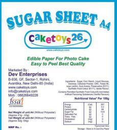GURUH Sugar Sheet/Icing Sheet A4 (15), 1500 g