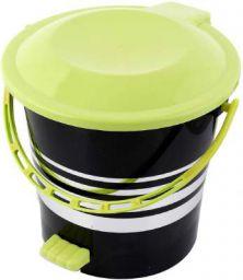 Kuber Industries Plastic Dustbin Garbage Bin with Handle,5 Liters (Green) -CTKTC037982