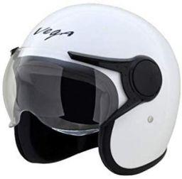 Vega Jet Open Face Helmet (White, L (60 cm))