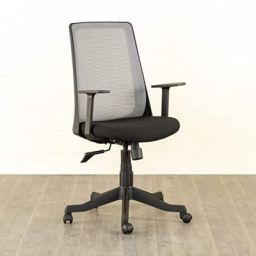 Home Centre Helios Olivia Medium Back Office Chair, Grey, 23 * 23 inches (HLIVAELIOS-O)