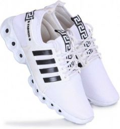 Blide Comfortable & Light Weight Sport Running & gym Shoes For Men (White)