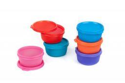Signoraware Tiny Wonder Container Set, 600ml, Set of 6, Multicolour