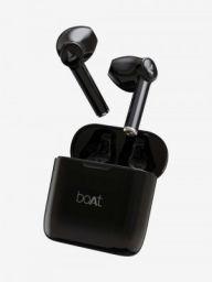 boAt Airdopes 131 T TWS Earbuds with Sleek Design, IWP, Type C Port (Active Black)