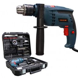 (Renewed) Izom ATC - 1001 Drill Machine Kit (Blue, Matte Finish, 110-Pieces)