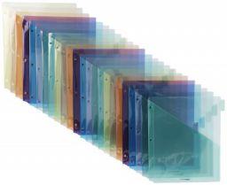 AmazonBasics Two Pocket Plastic Dividers, 8 Tab Set, Multicolor, Pack of 3 Sets