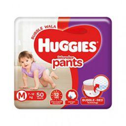 Huggies Wonder Pants, Medium Size Diapers (7 - 12 kg), 50 Count