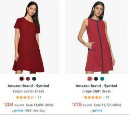 Symbol Women's Dress Upto 90% Off