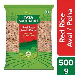 Tata Sampann Red Rice Poha Aval with High Dietary Fibre, 500 g