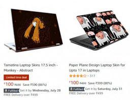Laptop Skin Starts at Rs.100