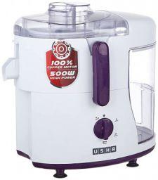 Usha JMG 0500XJ3 500 -Watt Juicer Mixer Grinder with 3 Jars (Magenta/White)