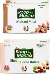 Roop Mantra Multani Mitti Soap & Shea Butter Soap(4 x 100 g)