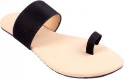 NiraWomen Black Flats Sandal