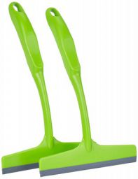 Amazon Brand - Presto! Squeegee Wiper for Kitchen Platform Top and Glass, Set of 2