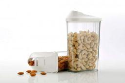 PURAM ABS Plastic Jar - 750ml, Transparent