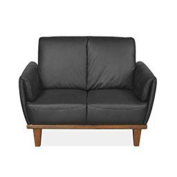 @home by Nilkamal Royce 2 Seater Sofa (Black)