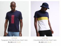Ajio - Men's T-shirt Starting At Rs 129