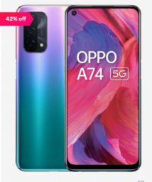 OPPO A74 128 GB (Fantastic Purple) 6 GB RAM, Dual SIM 5G