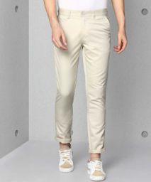 METRONAUT Regular Fit Men Cotton Blend Cream Cotton Blend Trousers