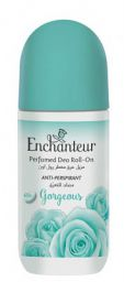 Enchanteur Gorgeous Roll-On Deodorant, 48 hr odour protection, Anti Perspirant, 50ml