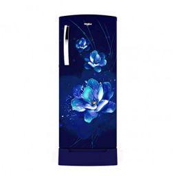 (Renewe) Whirlpool 215 L Inverter Direct-cool Single Door Refrigerator (230 Impro Roy 4s Inv Sapphire Flume, 4 Star Rating, Blue)
