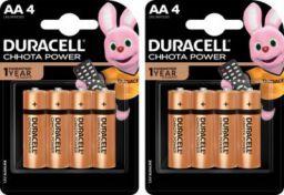 DURACELL CHHOTA POWER ALKALINE AA BATTERIES ( Pack of 2 ) 8 Pcs Battery