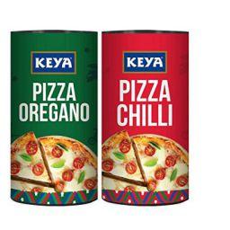 Keya Pizza Seasoning Combo | Italian Pizza Oregano x 1, 80 gm | Italian Pizza Chilli x 1, 70 gm | Pack of 2