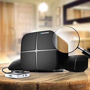 Blaupunkt SP-212 Bluetooth Home Audio Multimedia 2.1 Speaker Wooden Satellites and Wooden Sub-woofer